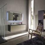 Ambiance pure et essentielle pour une salle de douche rationnelle et confortable.