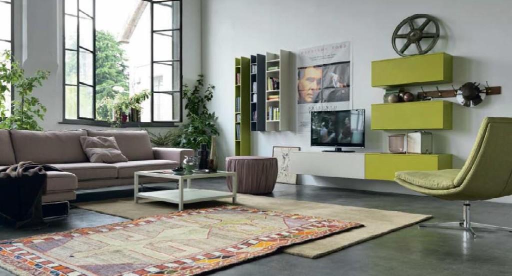 Atmosphère d'ailleurs pour un living d'inspiration « style loft ».